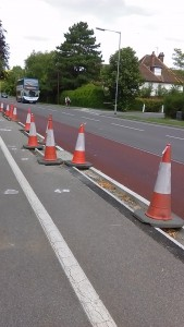 Hills Road cycle lanes